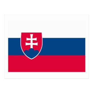 Slovakia Flag Postcard