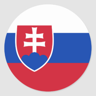 Slovakia Flag Round Stickers (pack)