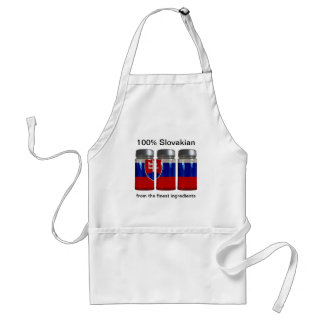 Slovakia Flag Spice Jars Apron