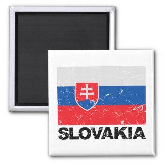 Slovakia Flag Vintage Magnet
