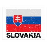 Slovakia Flag Vintage Postcard