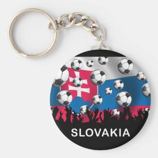 Slovakia Football Basic Round Button Keychain