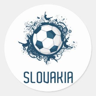 Slovakia Football Classic Round Sticker