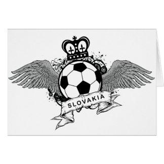 Slovakia Football Greeting Card
