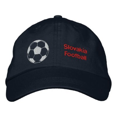 Slovakia Football soccer ball hat for Slovaks Embroidered Baseball Caps