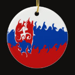 Slovakia Gnarly Flag Ceramic Ornament