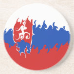 Slovakia Gnarly Flag Coaster