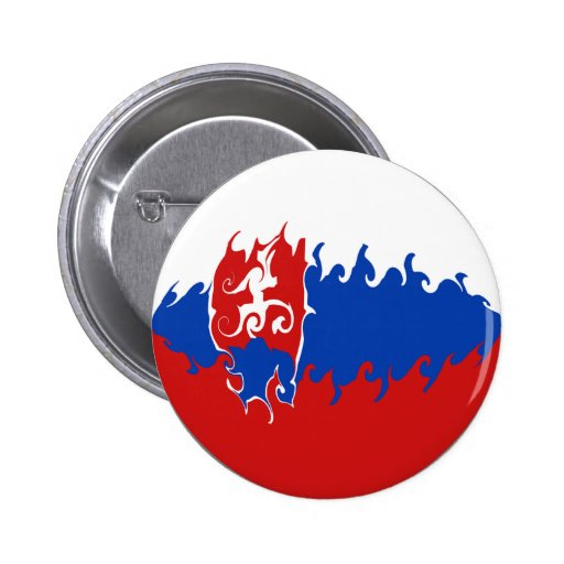 Slovakia Gnarly Flag Pinback Buttons