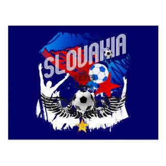 Slovakia Grunge Slovak soccer football party gear Post Card