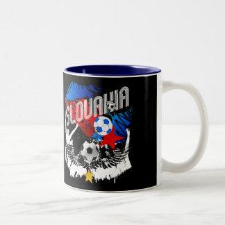 Slovakia Grunge Slovak soccer football party gear Two-Tone Coffee Mug