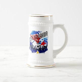 Slovakia Grunge soccer celebration gifts Beer Stein