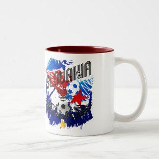 Slovakia Grunge soccer celebration gifts Two-Tone Coffee Mug