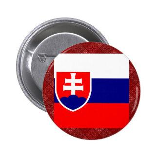 Slovakia High quality Flag Button