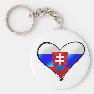 Slovakia love I heart Slovakia gifts for Slovaks Keychain