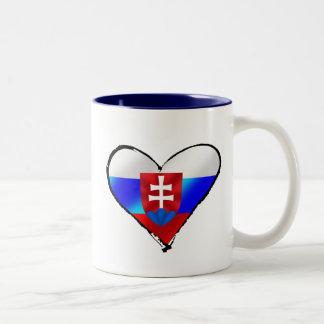Slovakia love I heart Slovakia gifts for Slovaks Two-Tone Coffee Mug