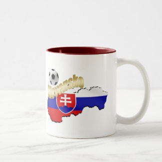 Slovakia  Map bend it Slovaks Slovensko gifts Two-Tone Coffee Mug