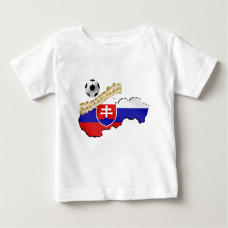 Slovakia Map for Slovak people and soccer lovers Baby T-Shirt