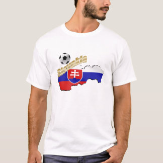 Slovakia Map for Slovak people and soccer lovers T-Shirt
