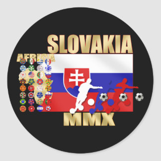 Slovakia MMX 32 Qualifying countries gifts Classic Round Sticker