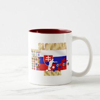 Slovakia MMX 32 Qualifying countries gifts Two-Tone Coffee Mug
