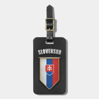 Slovakia Pennant with high quality leather look Bag Tag