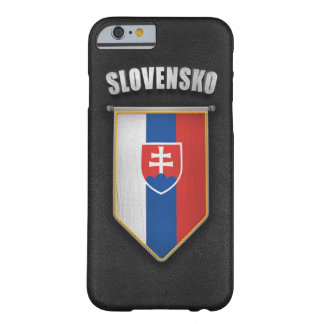 Slovakia Pennant with high quality leather look Barely There iPhone 6 Case