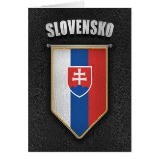 Slovakia Pennant with high quality leather look Card