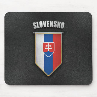 Slovakia Pennant with high quality leather look Mouse Pad
