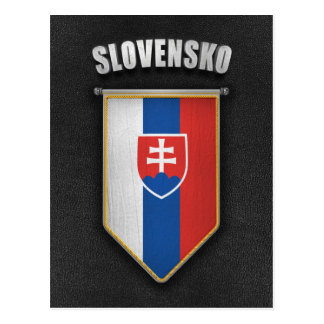 Slovakia Pennant with high quality leather look Postcard