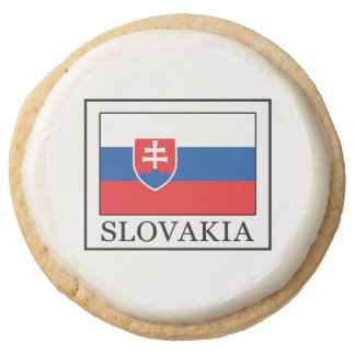 Slovakia Round Shortbread Cookie
