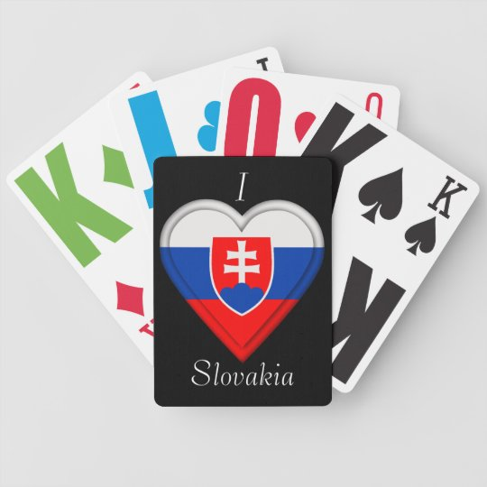 Slovakia Slovakian Flag Bicycle Playing Cards