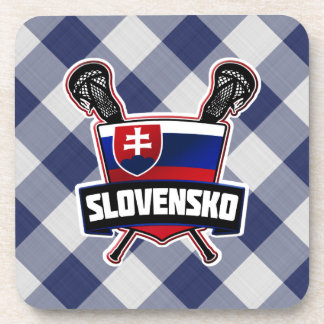 Slovakia Slovensko Lacrosse Drinks Mats Beverage Coaster
