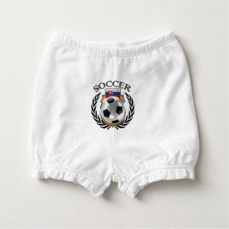 Slovakia Soccer 2016 Fan Gear Diaper Cover