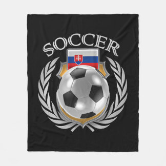 Slovakia Soccer 2016 Fan Gear Fleece Blanket