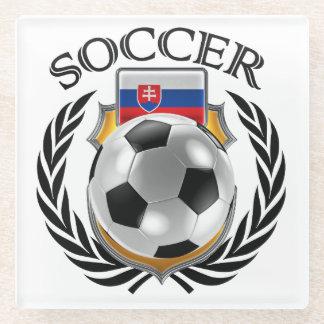 Slovakia Soccer 2016 Fan Gear Glass Coaster