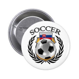 Slovakia Soccer 2016 Fan Gear Pinback Button