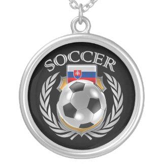 Slovakia Soccer 2016 Fan Gear Silver Plated Necklace