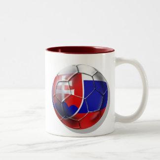 Slovakia soccer ball flag of Slovenska gifts Two-Tone Coffee Mug