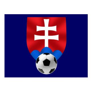 Slovakia soccer emblem for Slovaks worldwide Postcard