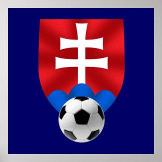 Slovakia soccer emblem for Slovaks worldwide Poster