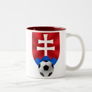 Slovakia soccer emblem for Slovaks worldwide Two-Tone Coffee Mug