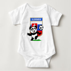 Baby Jersey Bodysuit with Slovakia Football Panda design