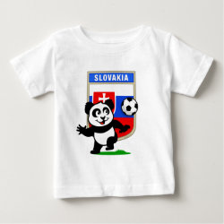 Baby Fine Jersey T-Shirt with Slovakia Football Panda design