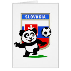 Greeting Card with Slovakia Football Panda design