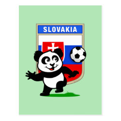 Postcard with Slovakia Football Panda design