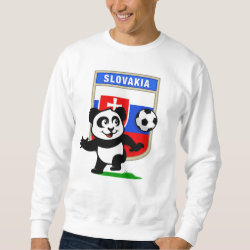 Men's Basic Sweatshirt with Slovakia Football Panda design