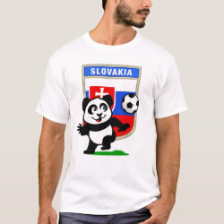 Men's Basic T-Shirt with Slovakia Football Panda design