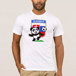 Men's Basic American Apparel T-Shirt with Slovakia Football Panda design