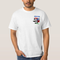 Men's Crew Value T-Shirt with Slovakia Football Panda design