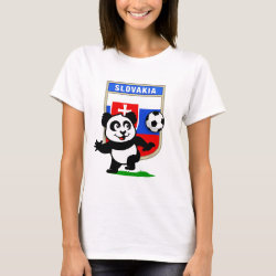 Women's Basic T-Shirt with Slovakia Football Panda design